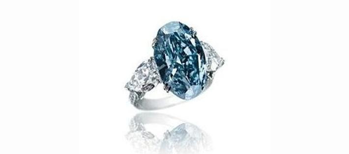 ショパール/ブルーダイヤモンドリング